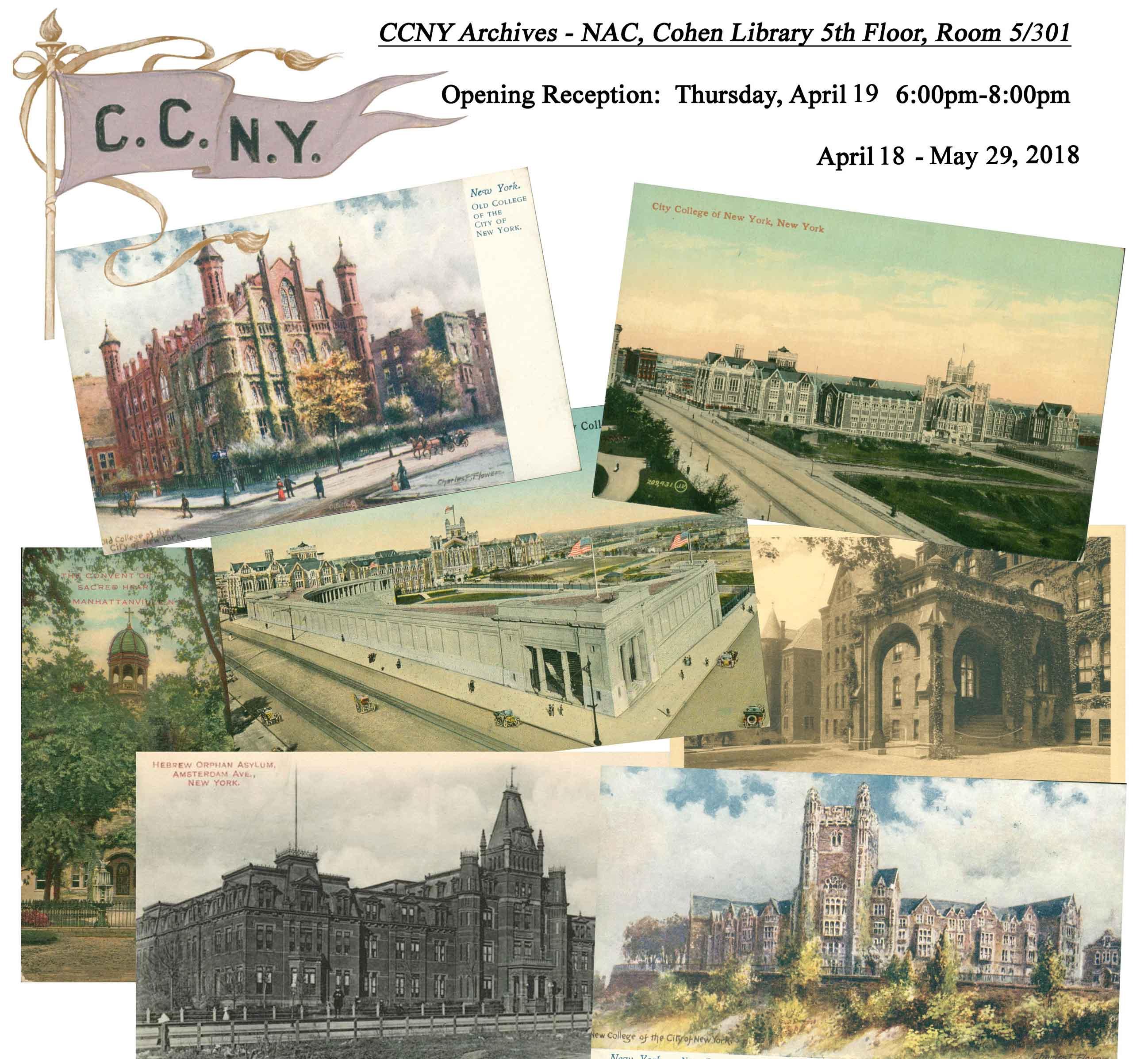 CCNY vintage postcard exhibit