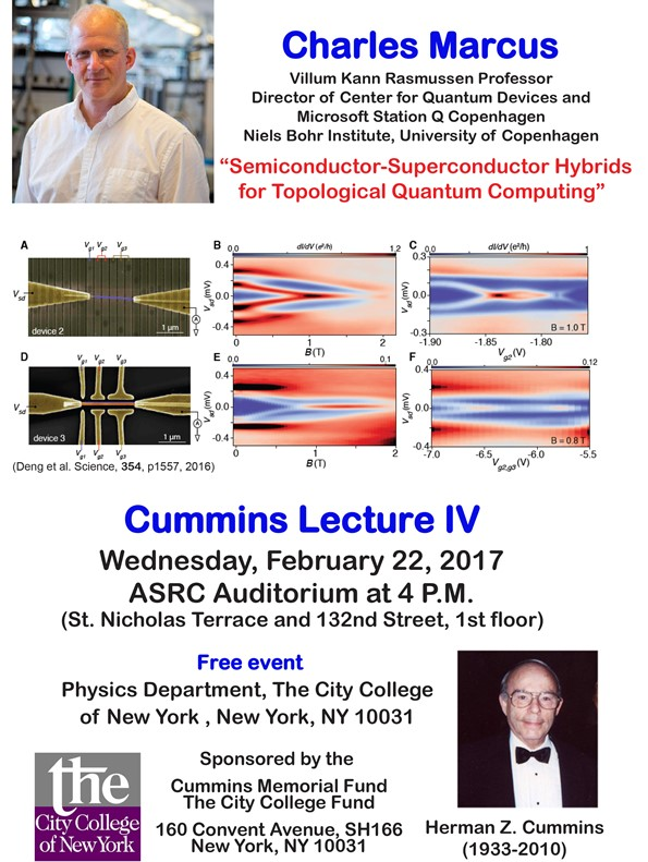 Poster: Cummins Lecture IV: Charles Marcus