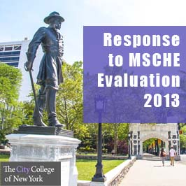 2013 CCNY Response to MSCHE Evaluation Report