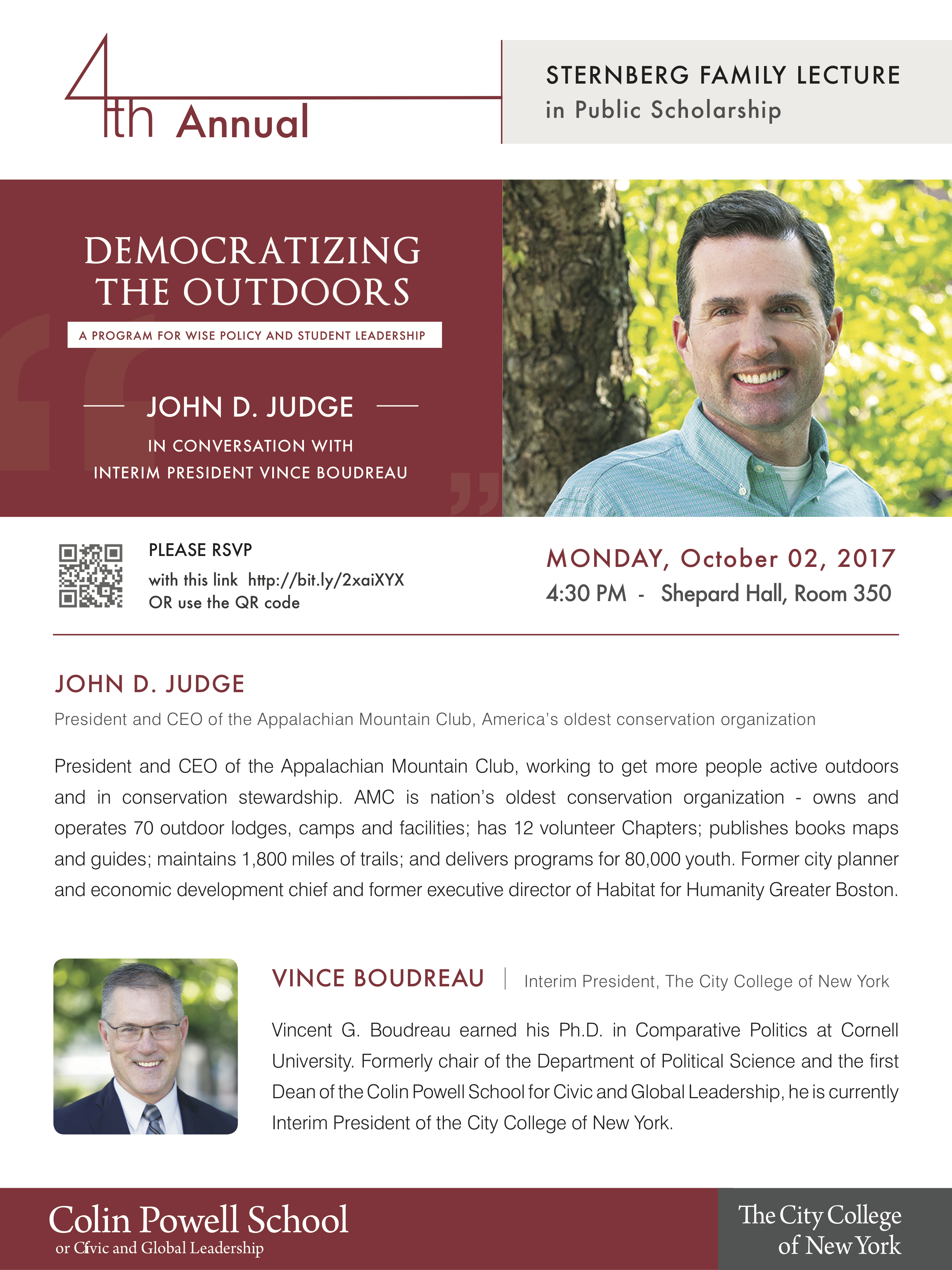 4th Annual Sternberg Lecture 2017 featuring John D. Judge