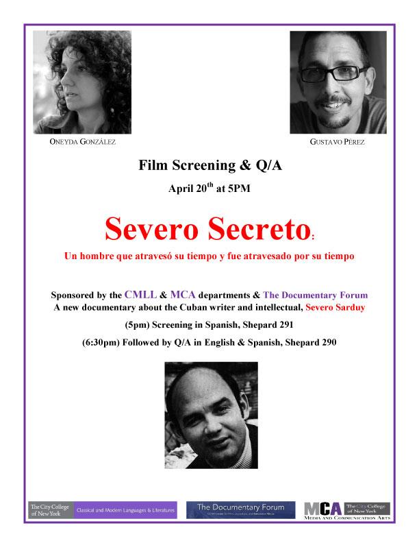 Screening in Spanish: Severo Secreto