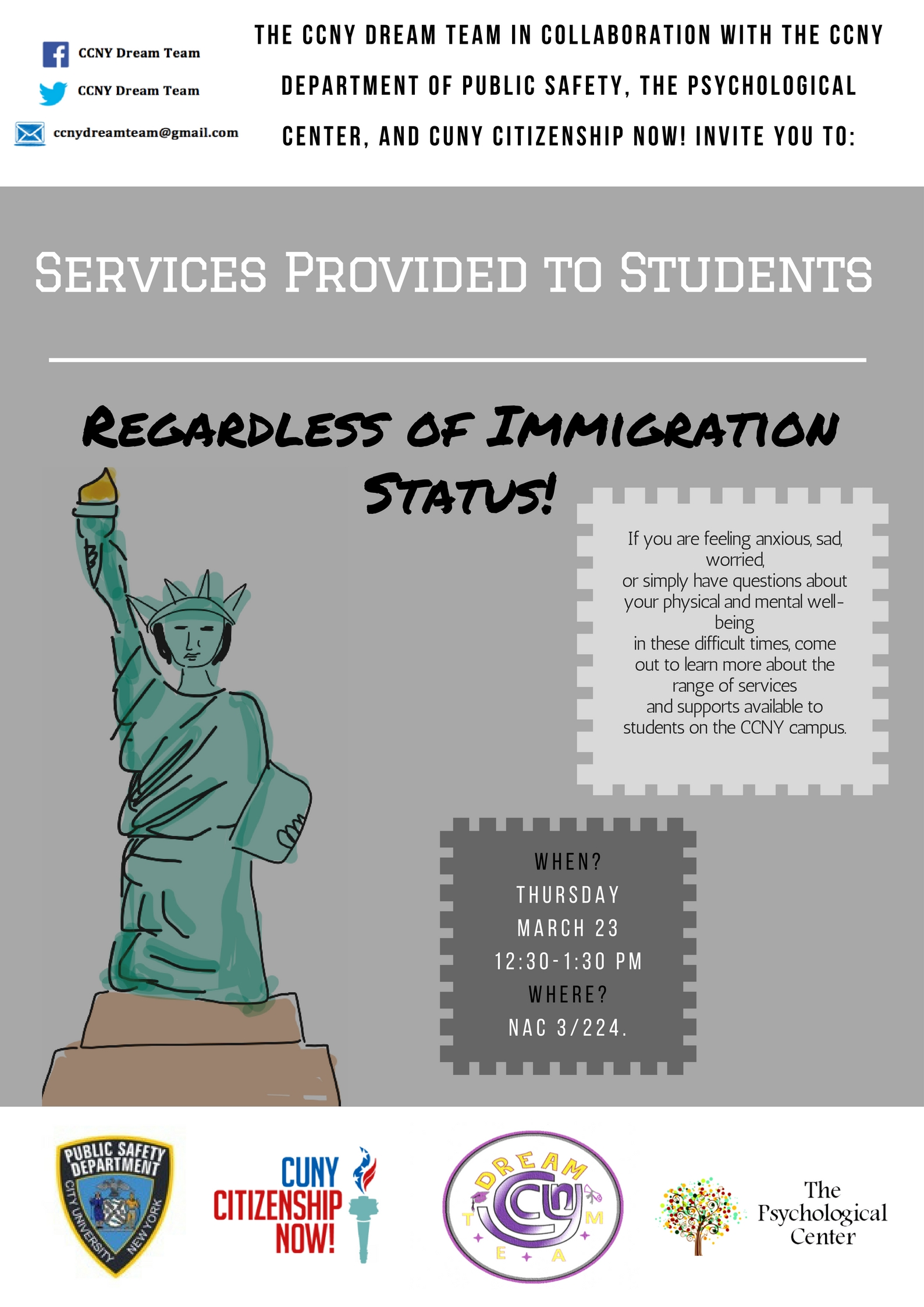 Services Provided to Students Regardless of Immigration Status