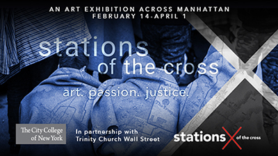 Stations of the Cross Banner with Dates February 14-April 1