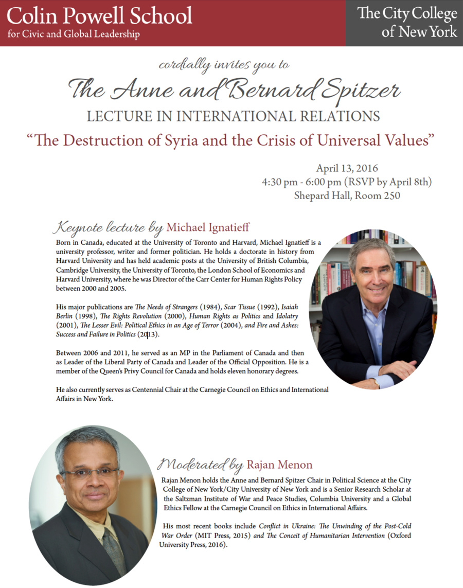 2016 annual Anne and Barnard Spitzer Lecture