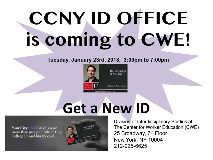 CCNY ID DAY at CWE 1/23/18