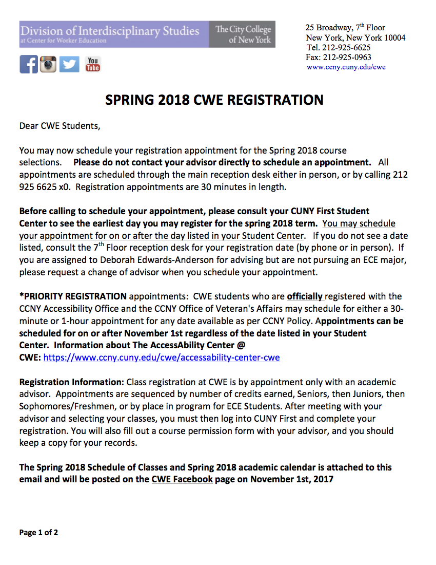 spring 2018 registration info png1 | the city college of new york