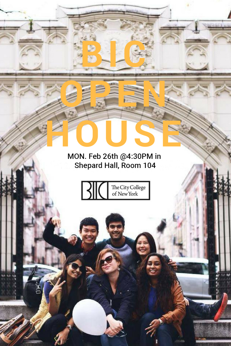 BIC Open House February 26, 2018 4:30pm