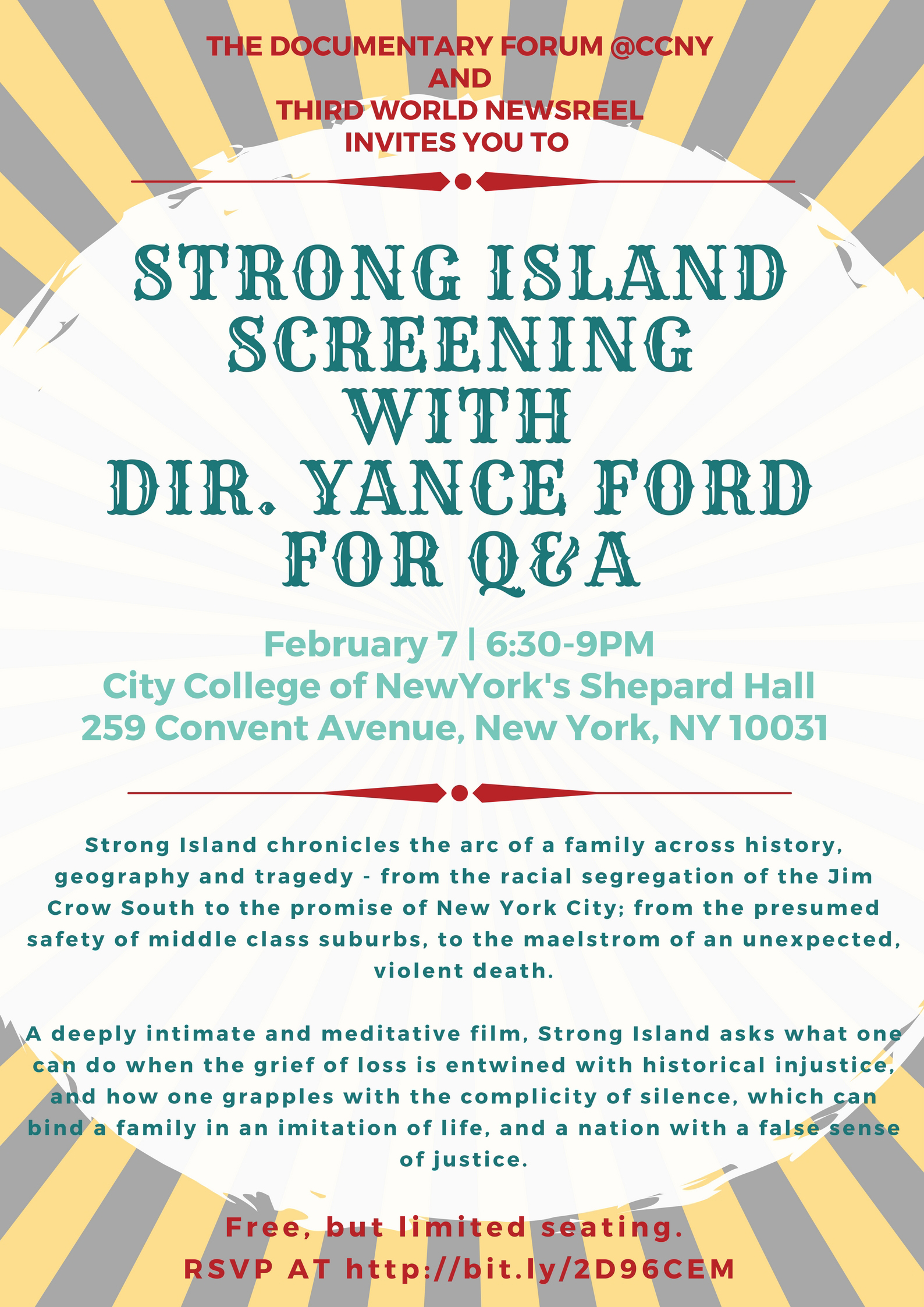 """""""Strong Island"""" screening with Yance Ford"""