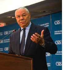 Colin Powell -- comes to LSJ class