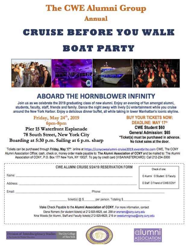 CWE Alumni Group Boat Party 5.24.19