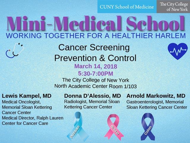 Mini-Medical School Cancer Screening