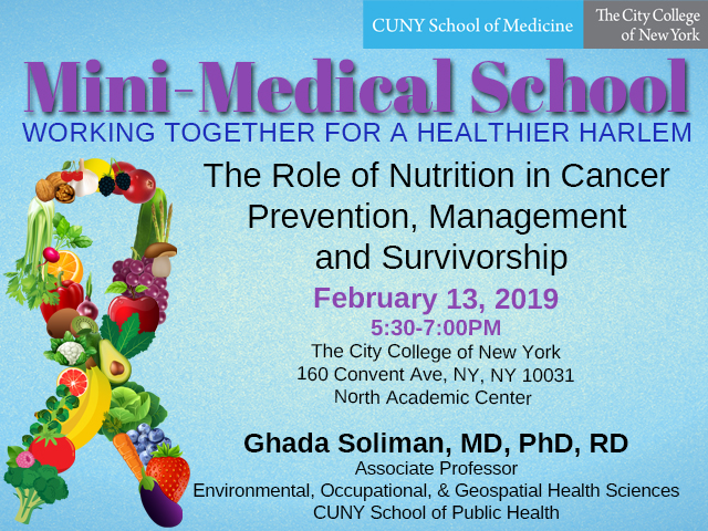 Mini-Medical School Cancer and Nutrition