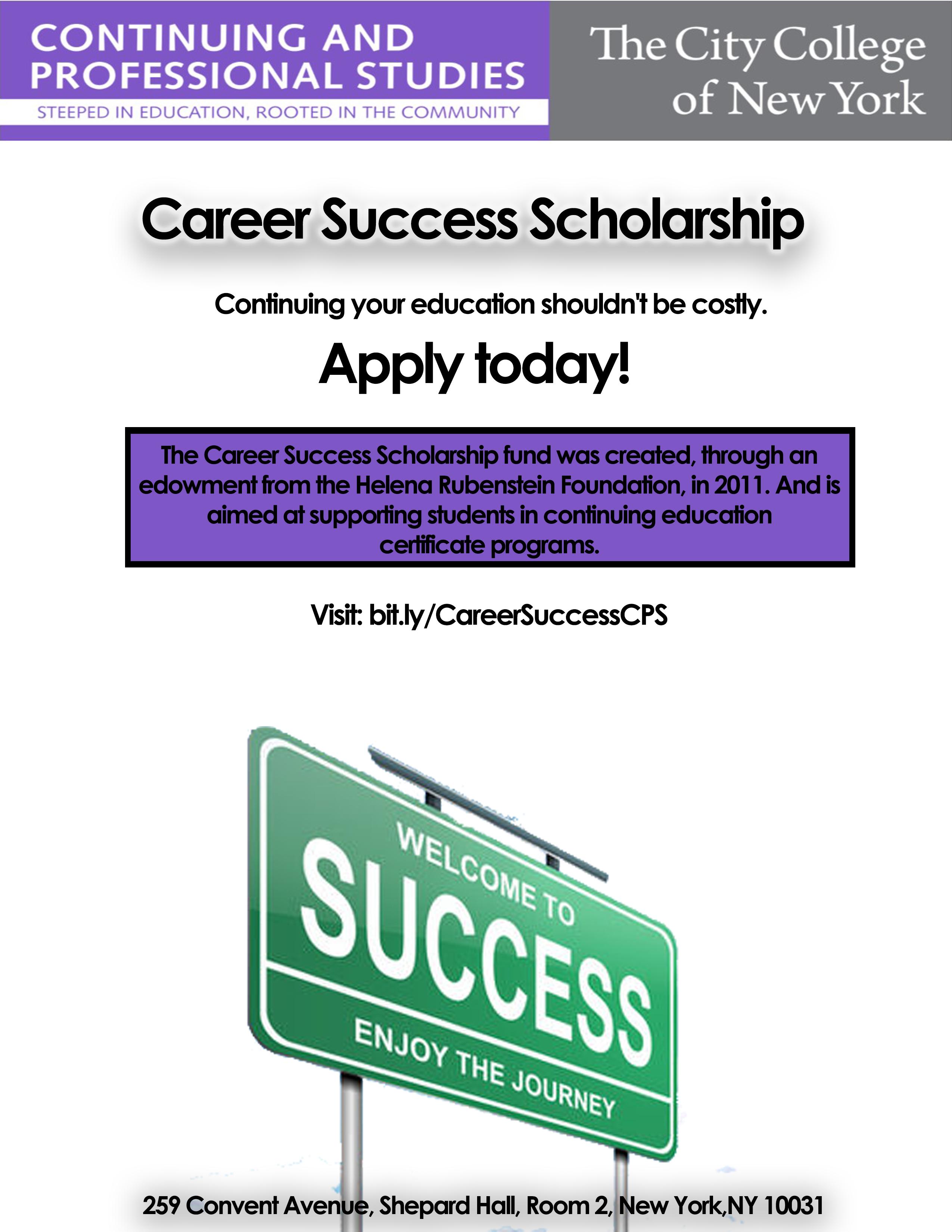 Career Success Scholarship