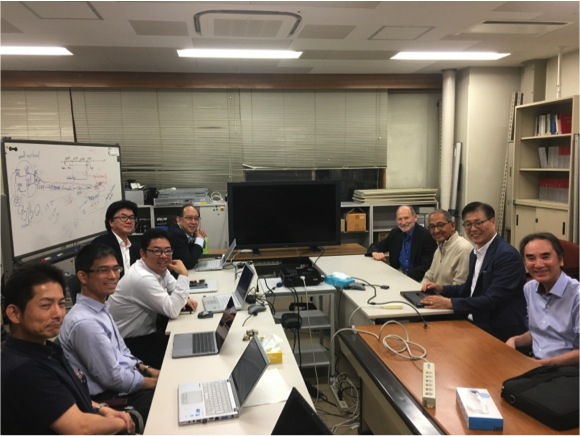 CCNY engineering and computer science professors at Kyutech Institute in Japan