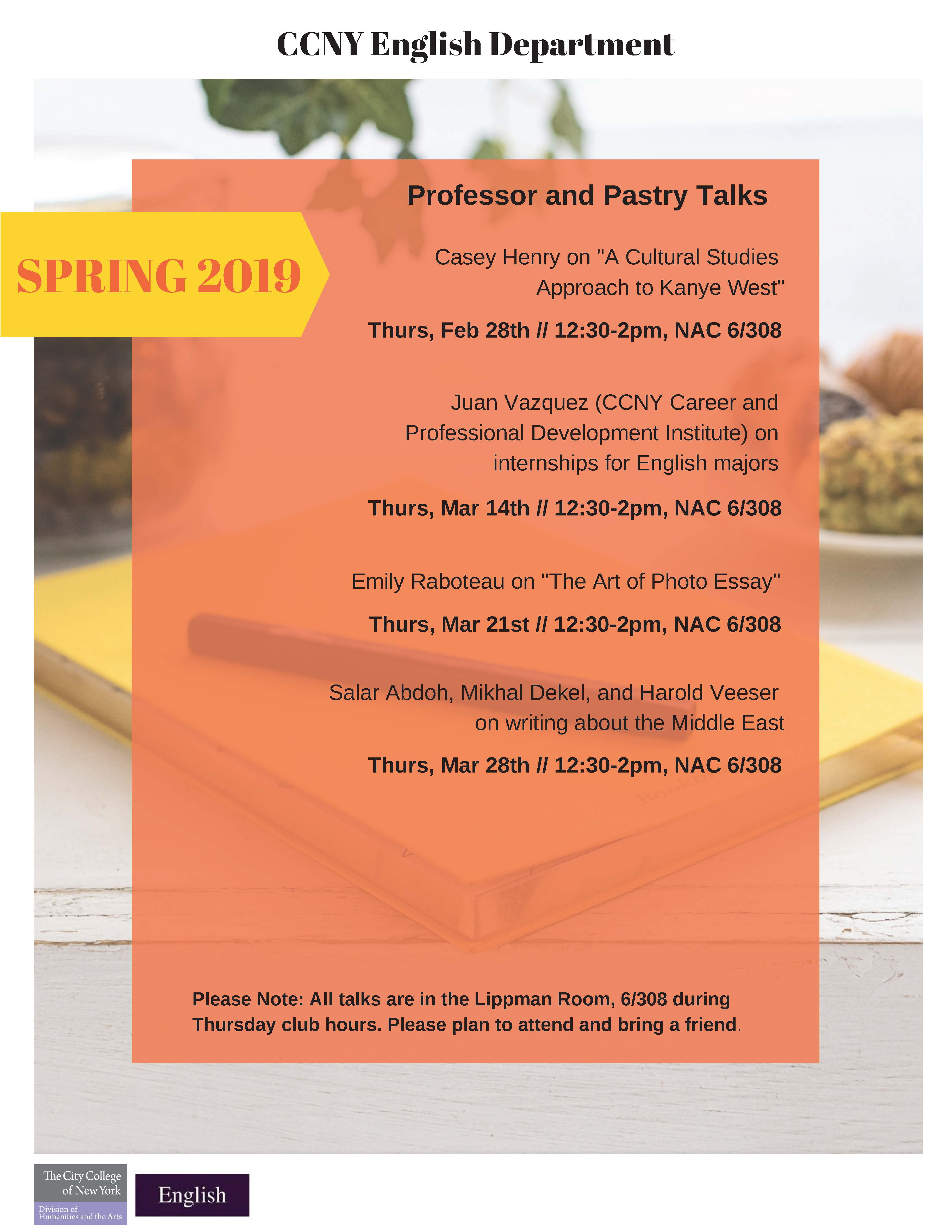 Spring 2019 CCNY English Events