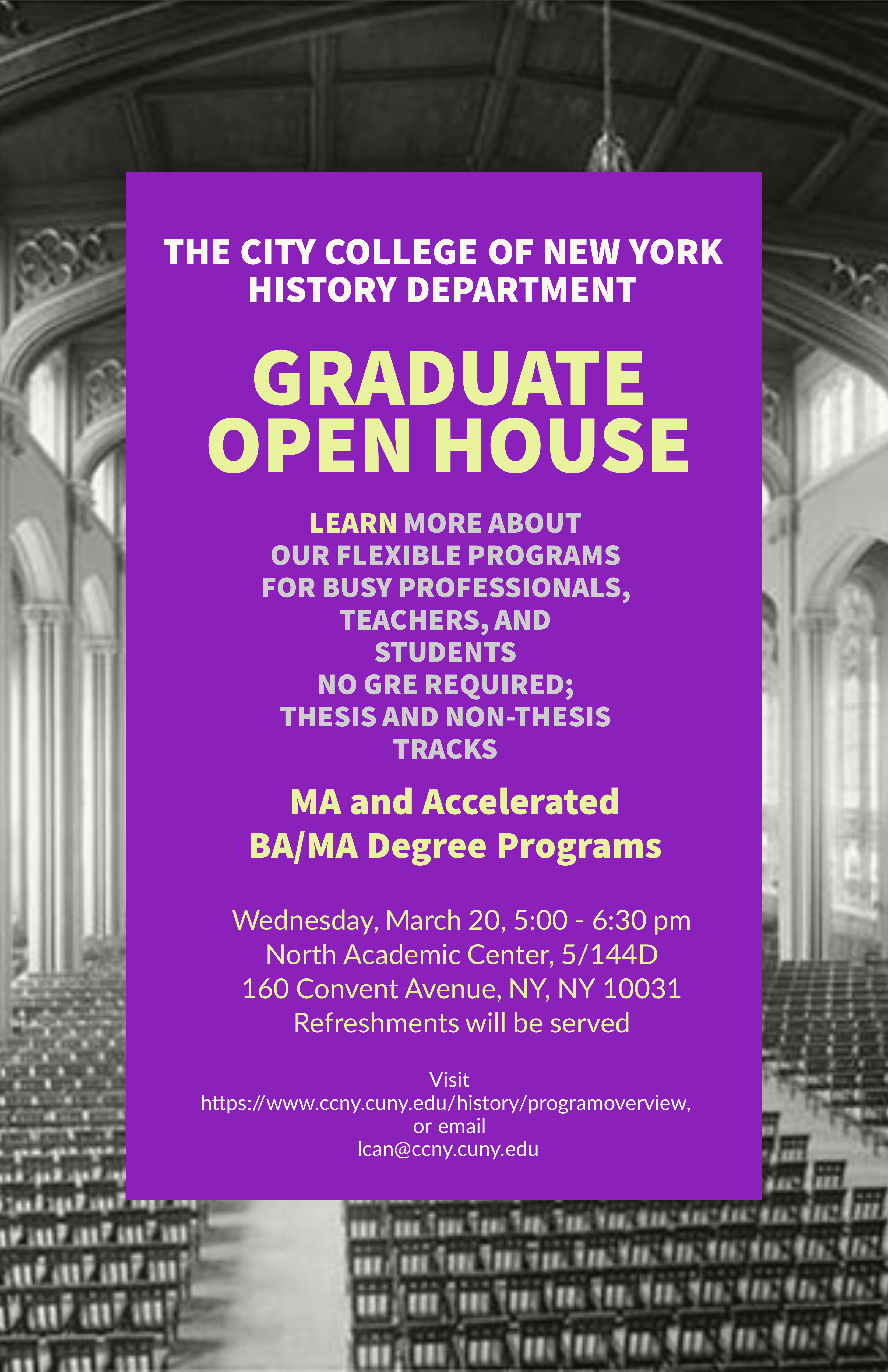 History Department Open House March 20, 2019