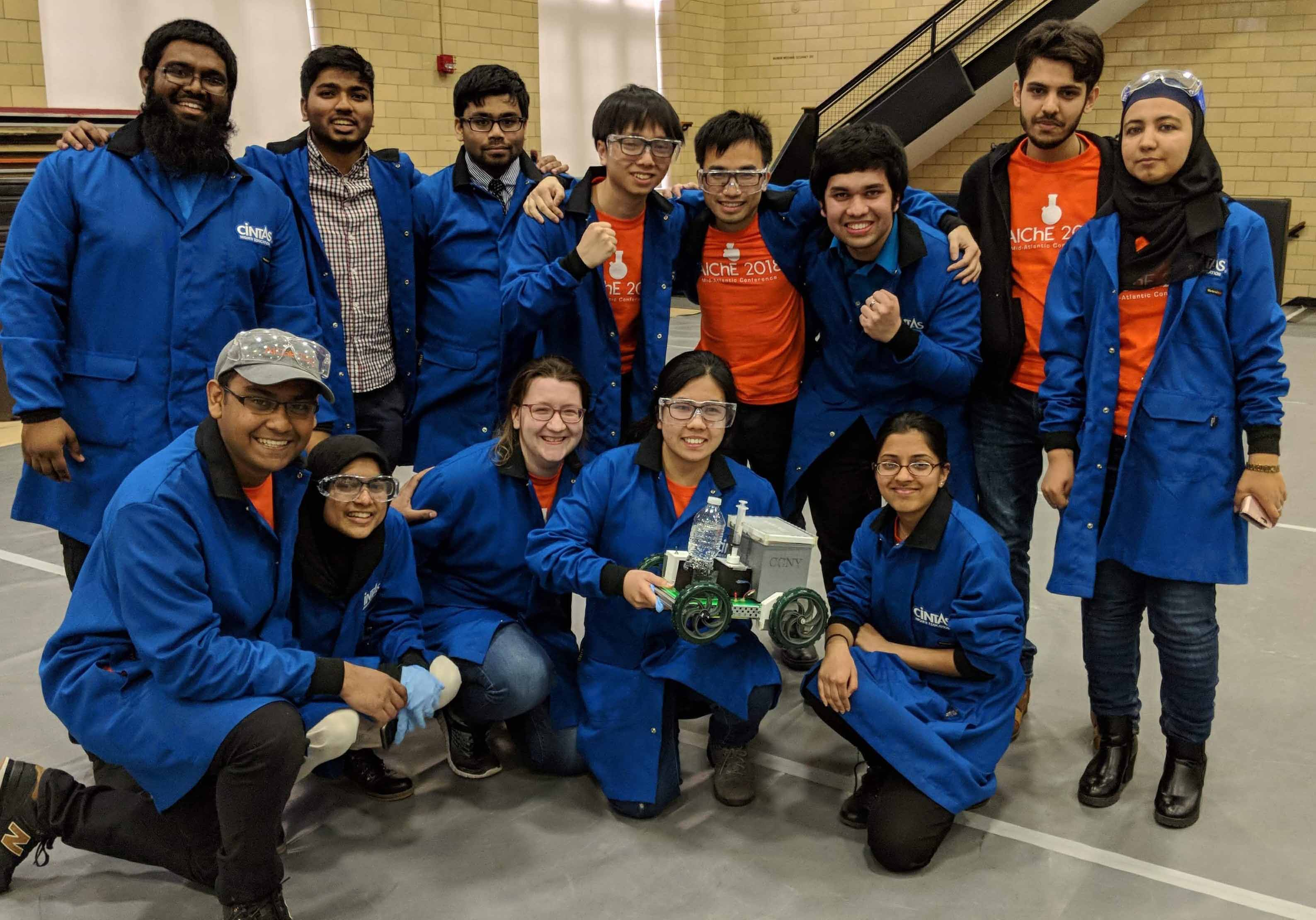 CCNY winning Chem-E-Car team