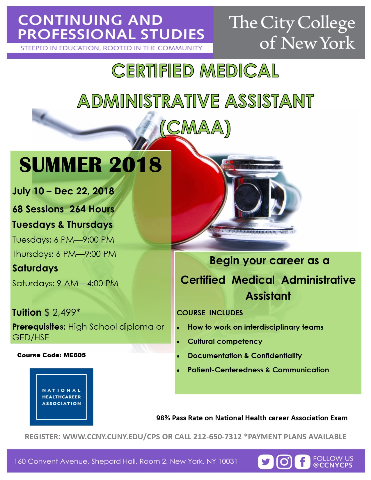Certified Medical Administrative Assistant Cmaa The City College