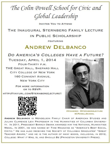 2014 Sternberg Lecture with Andrew DeBanco