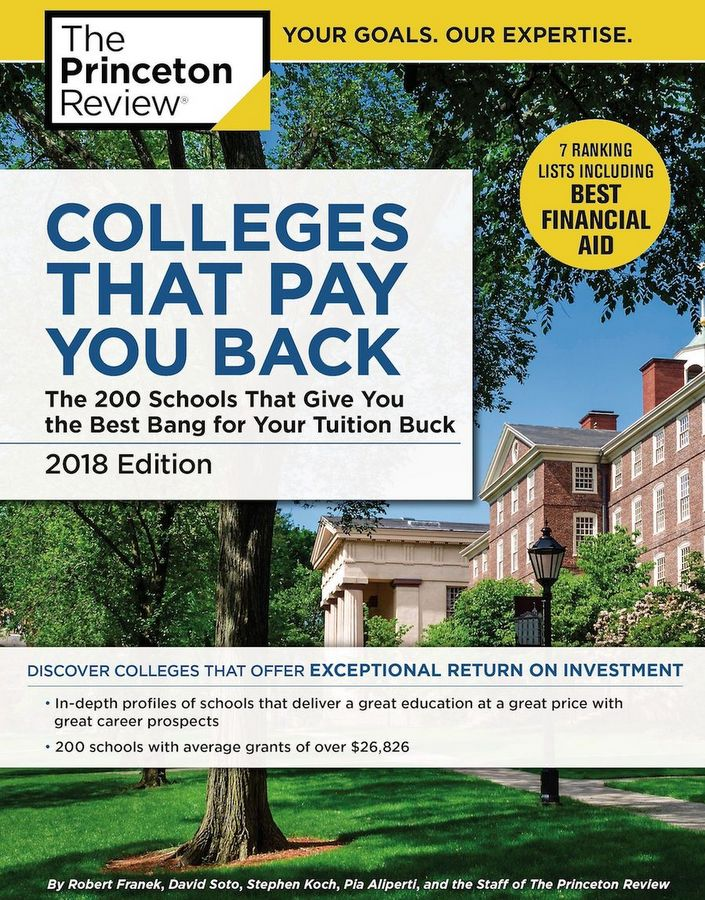 Princeton Review colleges that pay back 2018