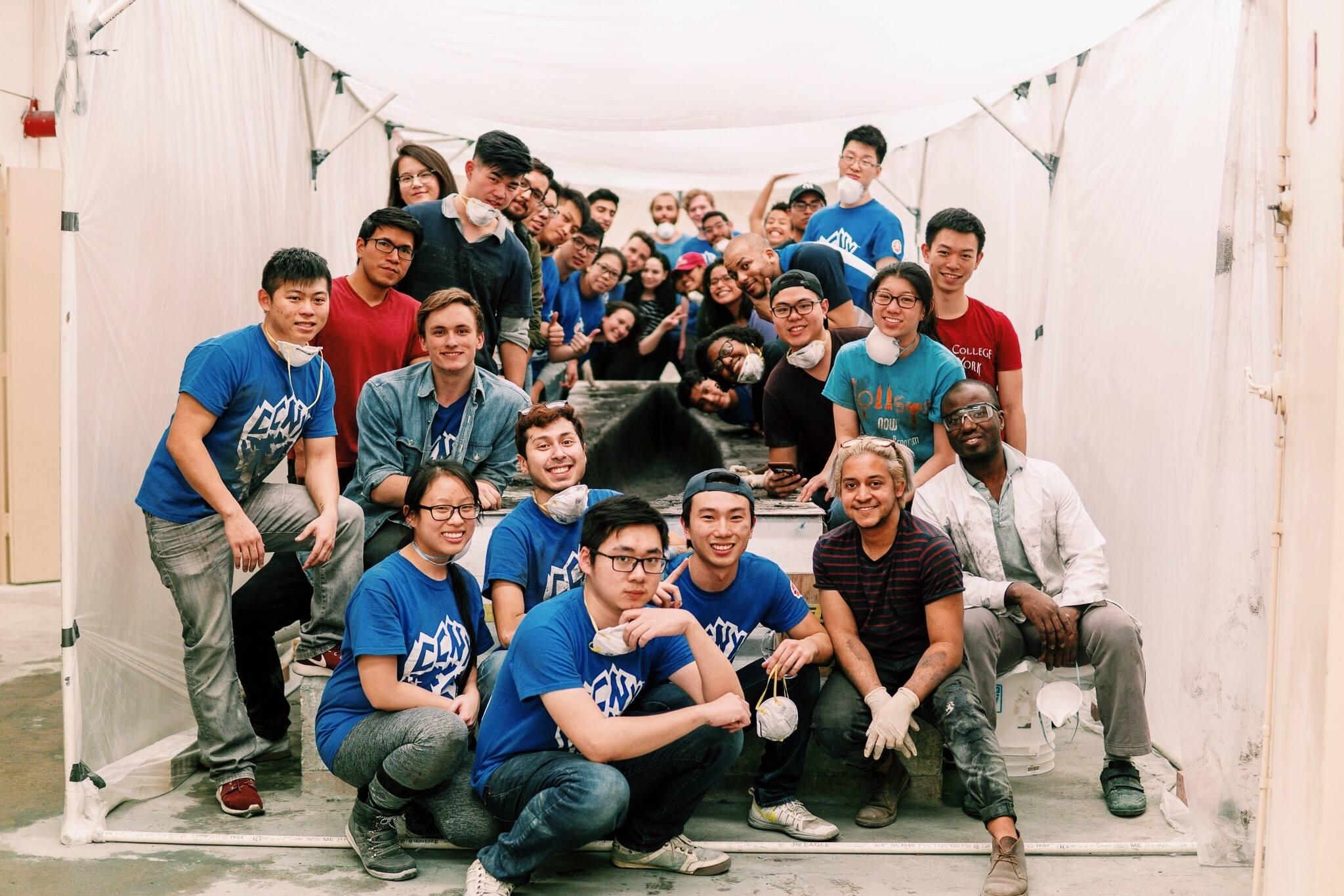 Concrete Canoe CCNY team