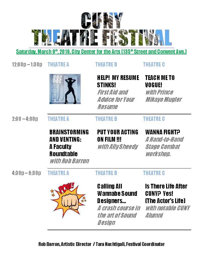 CUNY Theatre Festival 2019