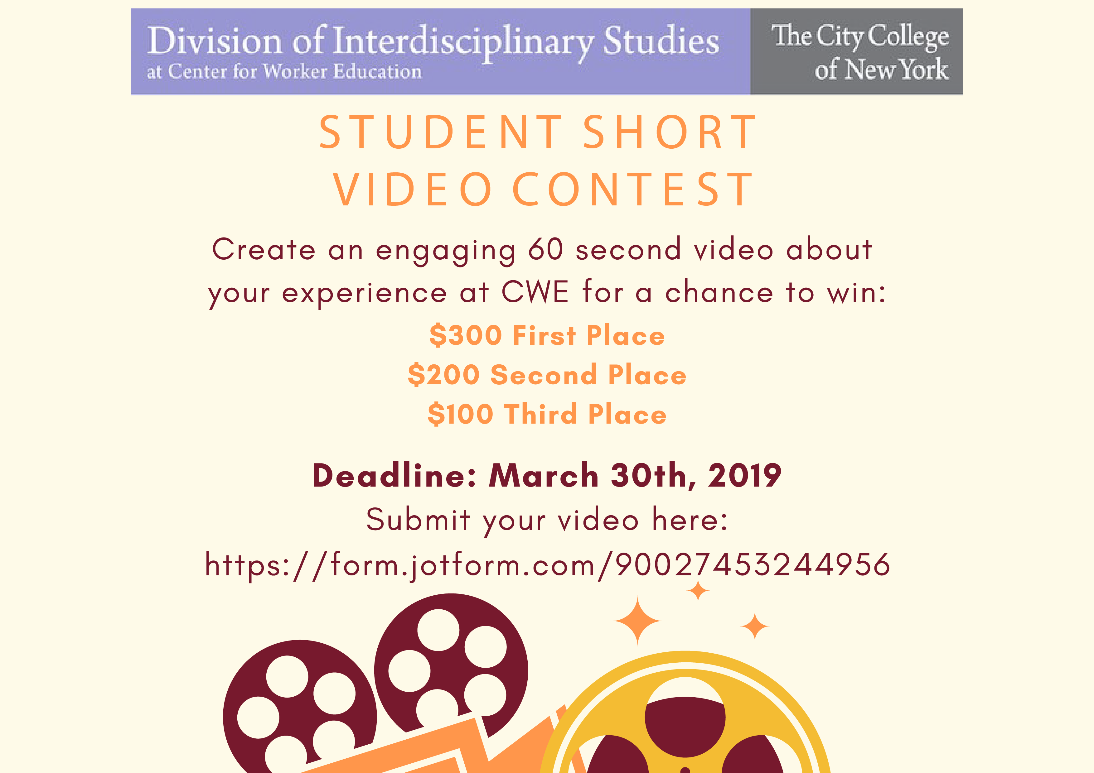 Create an engaging 60 second video about your experience at CWE for a chance to win