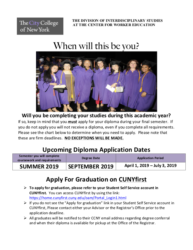 Dimploma Application Dates_