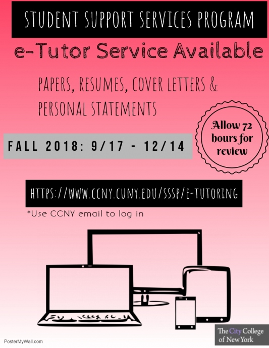 SSSP E-Tutoring Fall 2018
