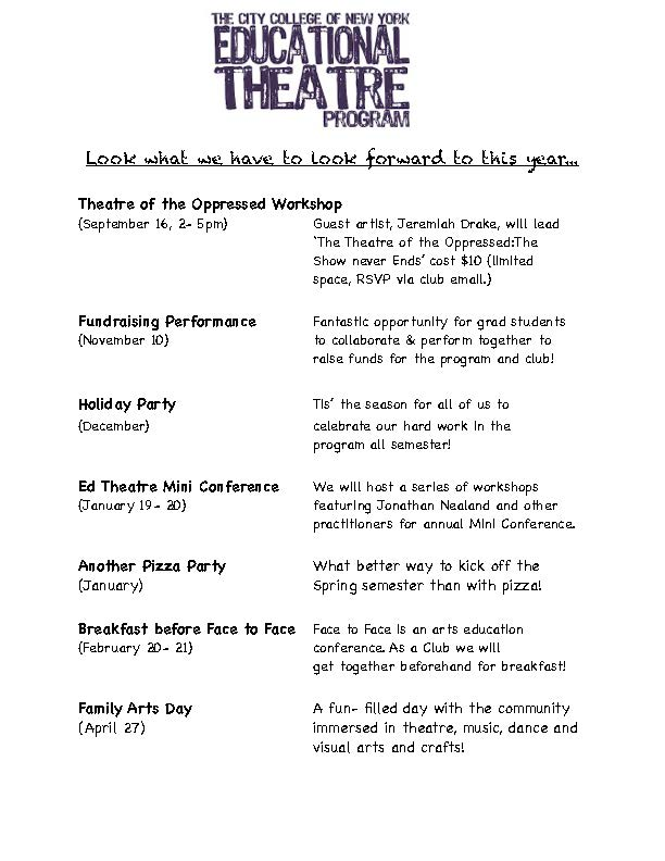 Educational Theatre Brochure 2012-2013