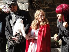 Graduate students performing Red Riding Hood