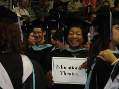 Educational Theatre student at graduation