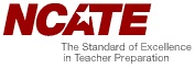 Picture of NCATE logo - The Standard of Excellence in Teacher Preparation
