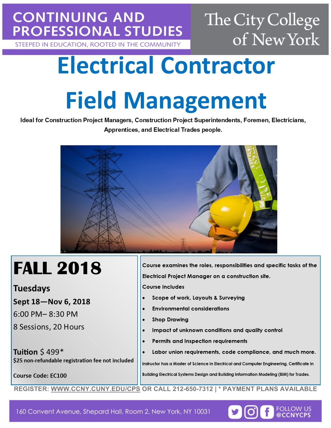 Electrical Contractor Fall