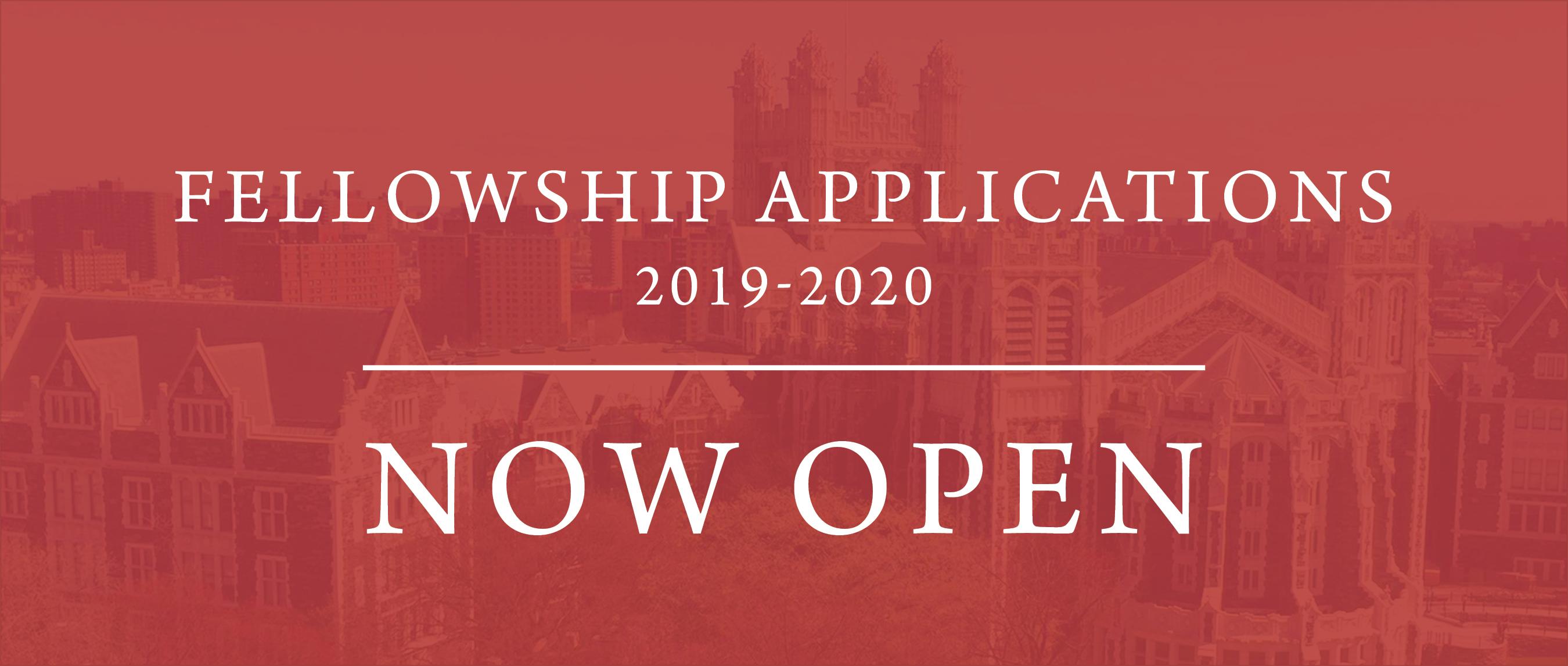fellowship applications open