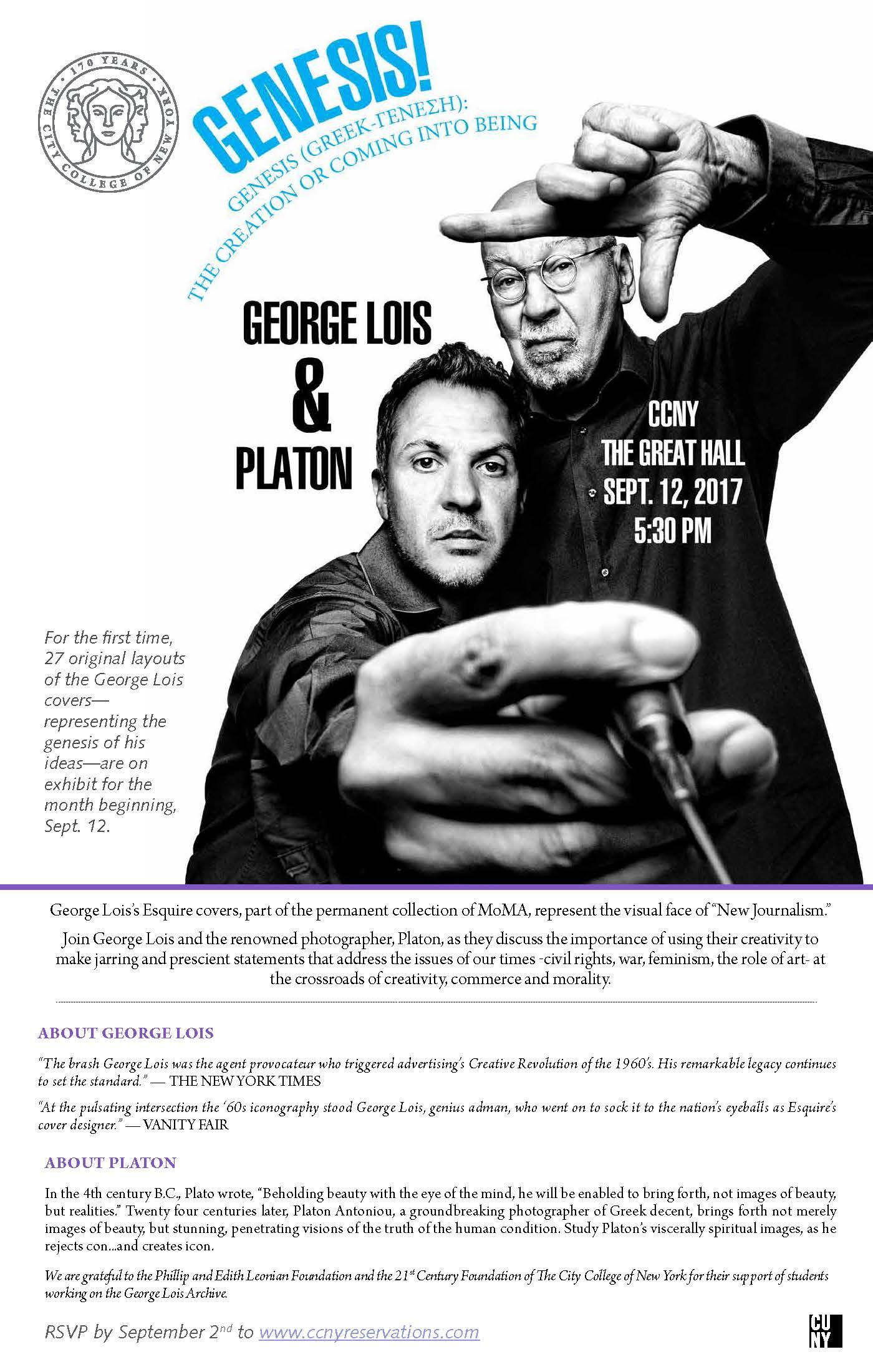 George Lois & Platon