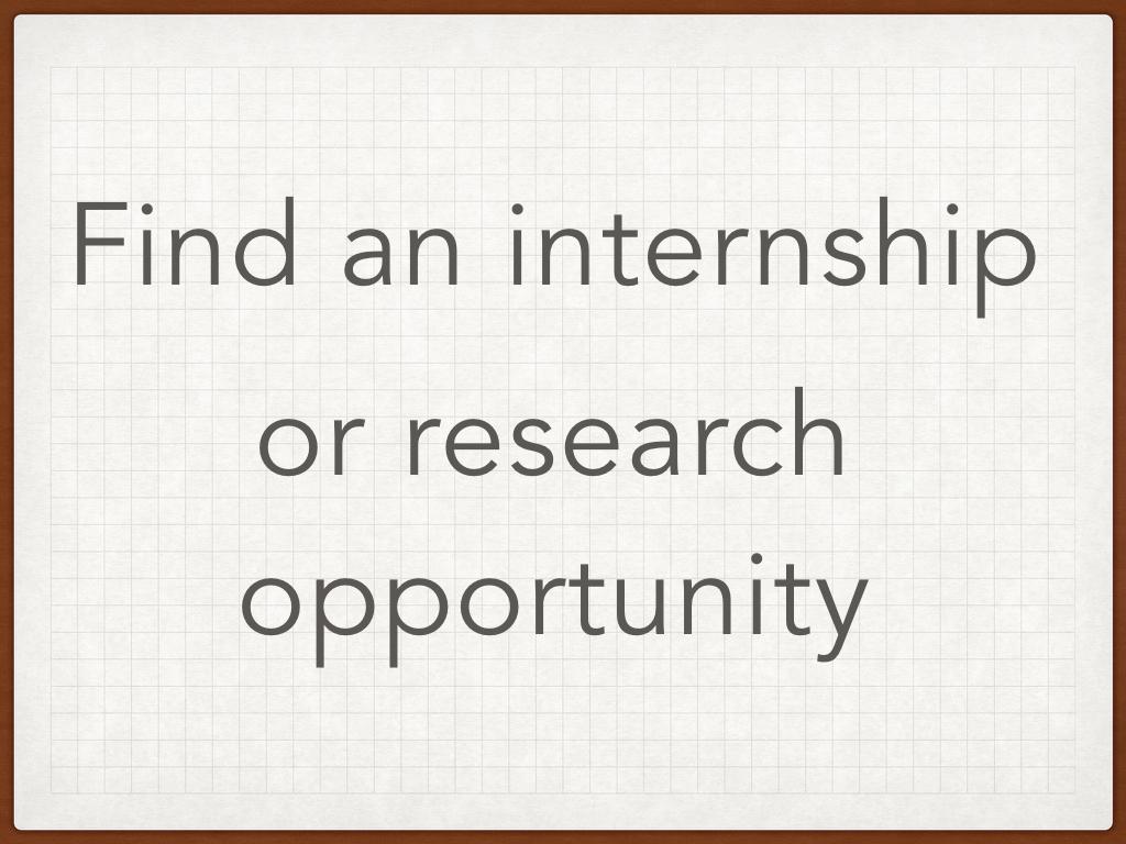 Find An Intership