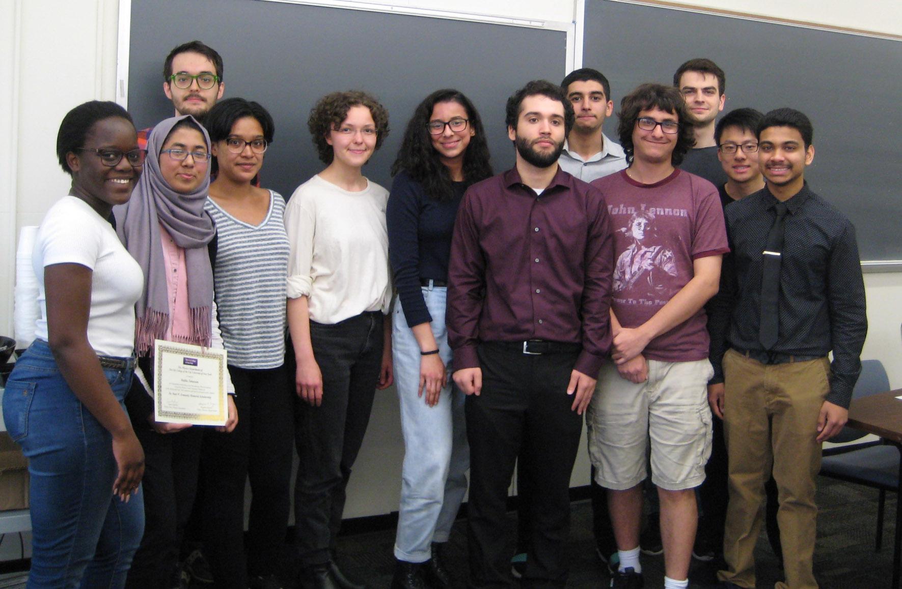 Physics Awardees Spring 2019