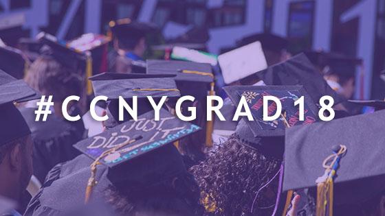 hash tag: #CCNY Grad 18