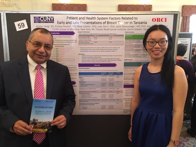 Kristen Yang with Dr. Soliman