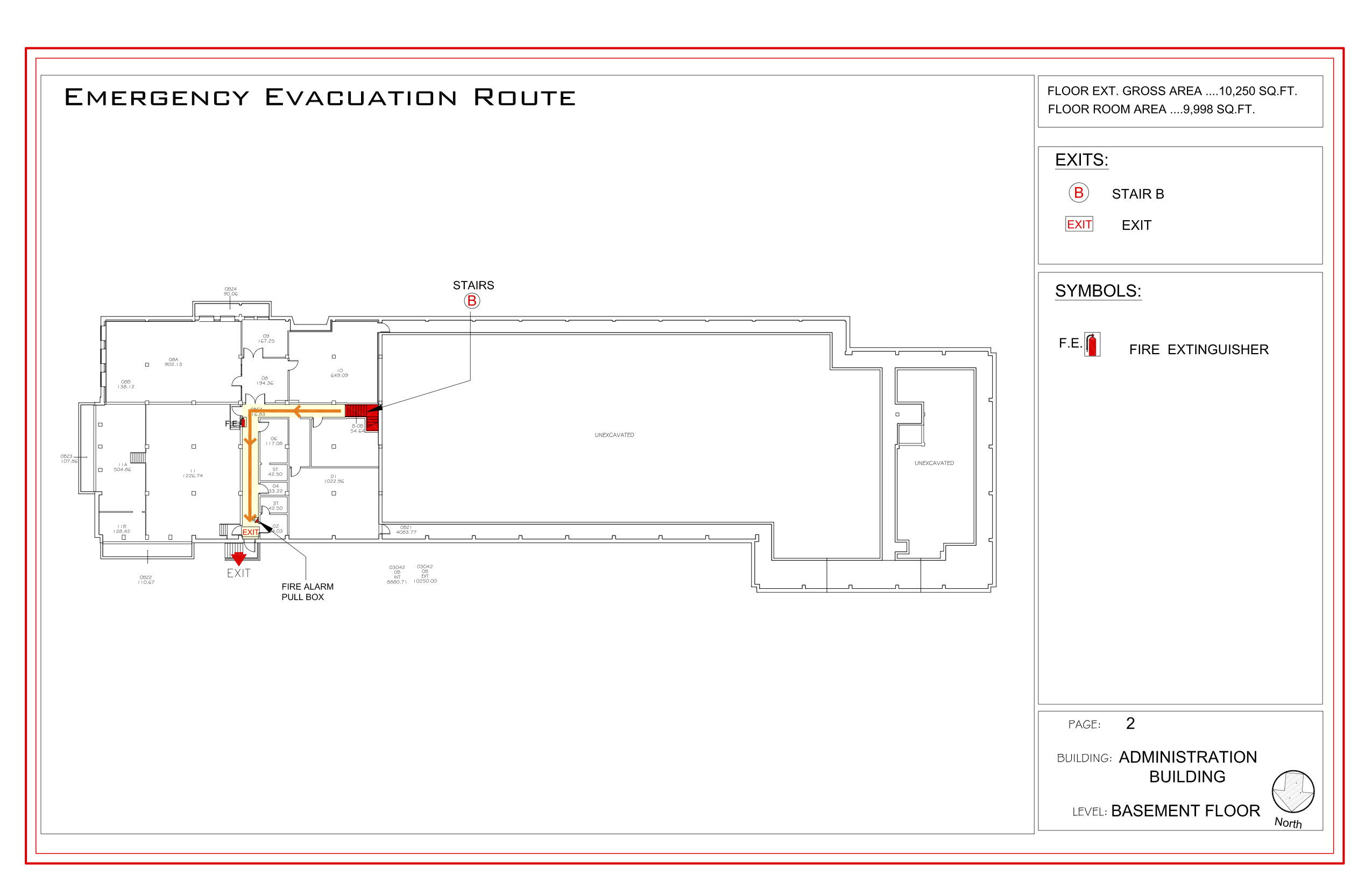 Administration - Evacuation Plan 1