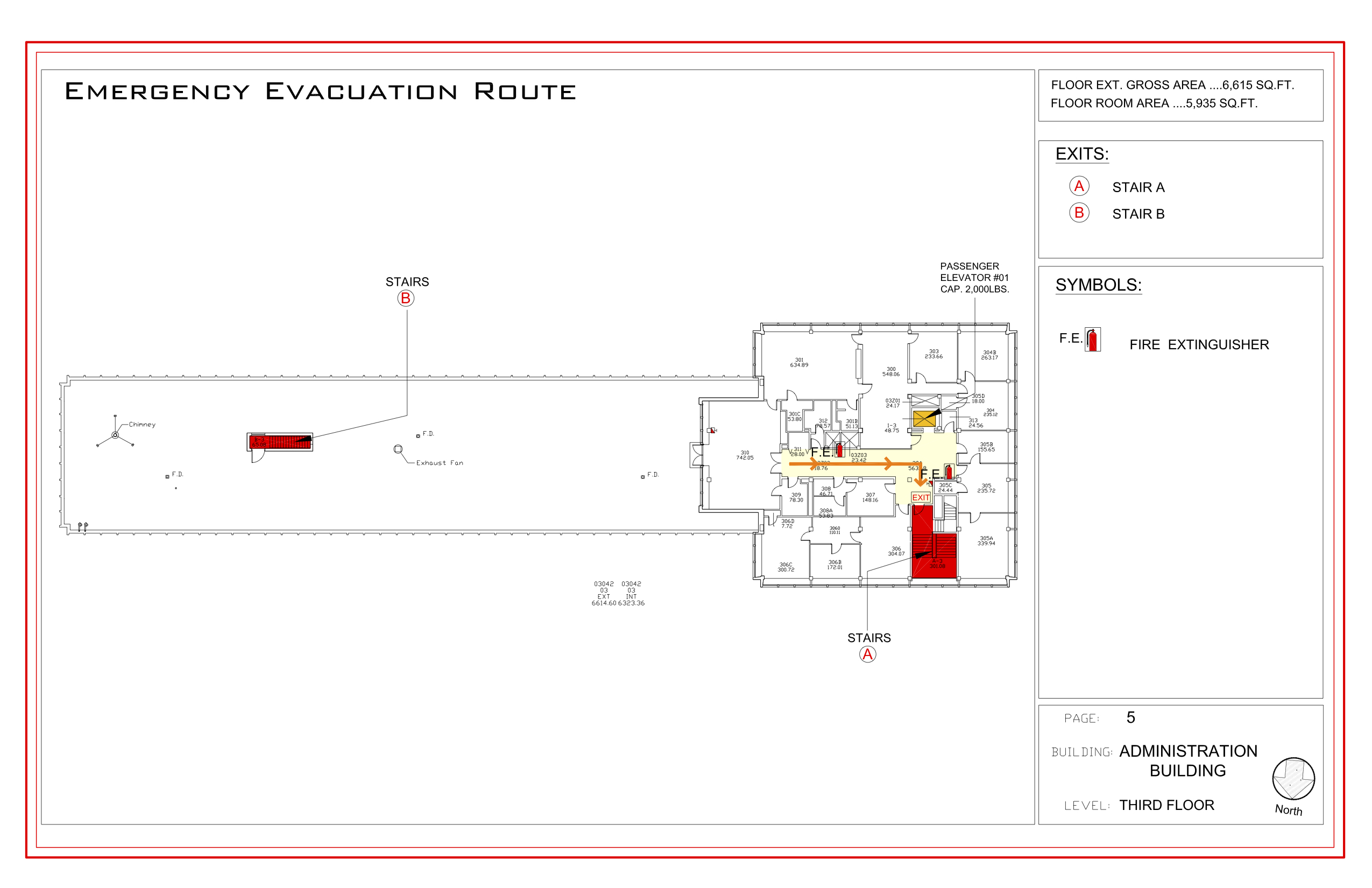 Administration - Evacuation Plan 4