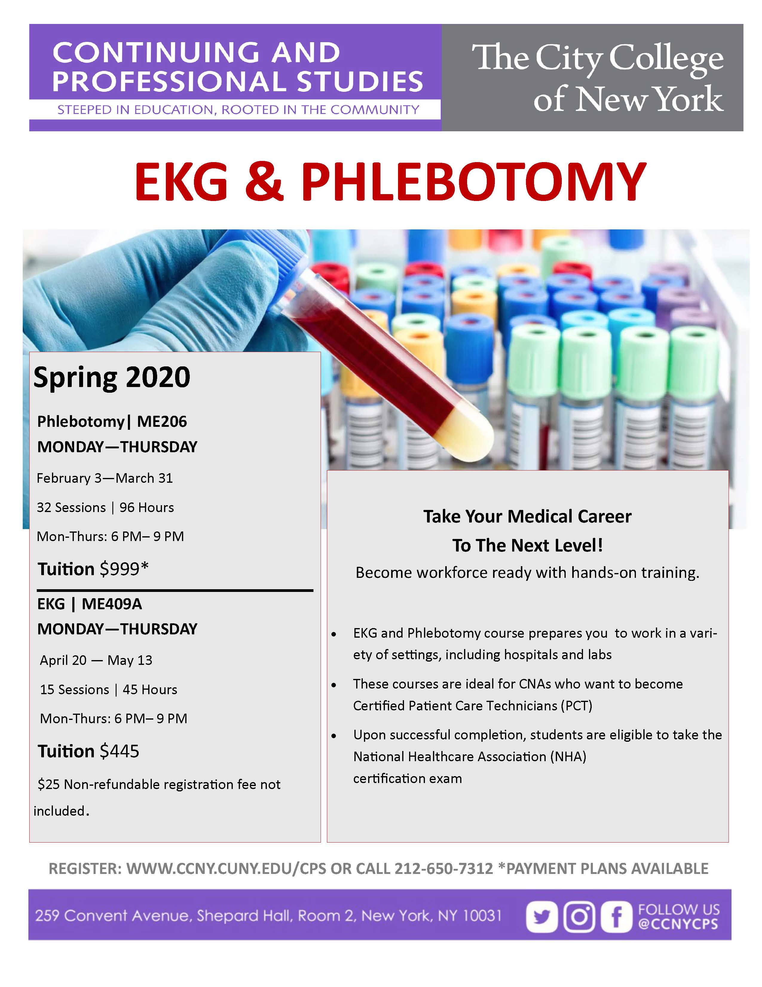 Ekg Phlebotomy Certification The City College Of New York