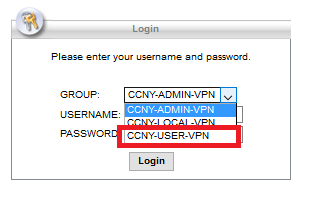 GROUP field to CCNY-USER-VPN