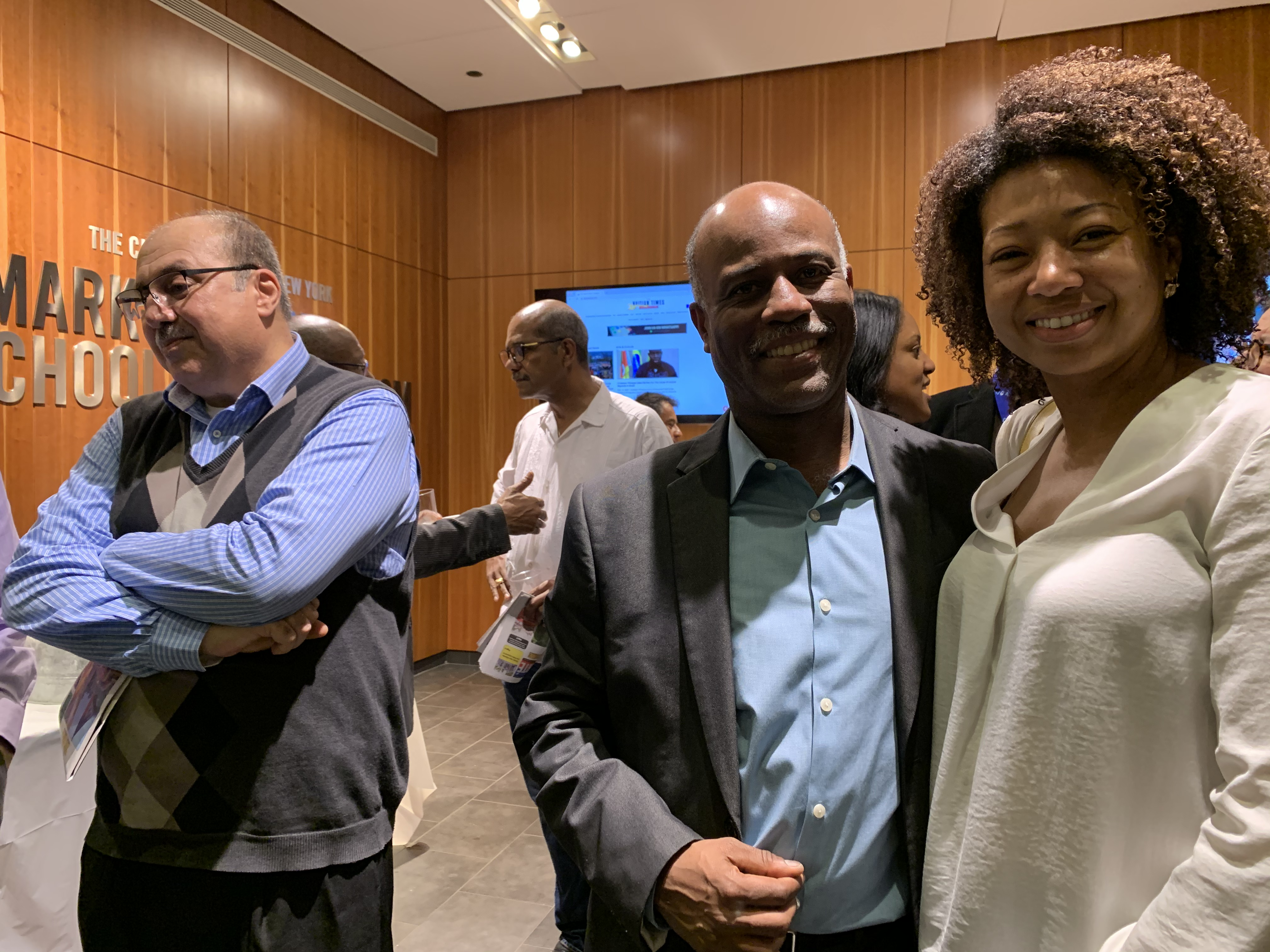 Garry Pierre-Pierre honored by the Center for Community and Ethnic Media at the Craig Newmark School of Journalism at CUNY