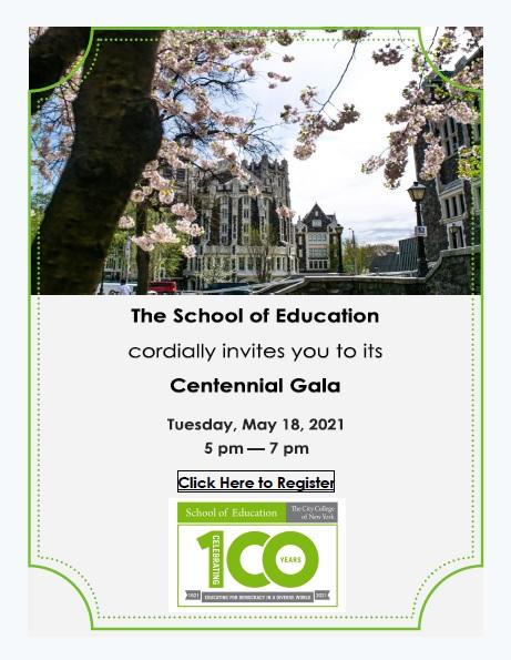 Ccny Fall 2022 Calendar.Centennial Calendar Of Events The City College Of New York