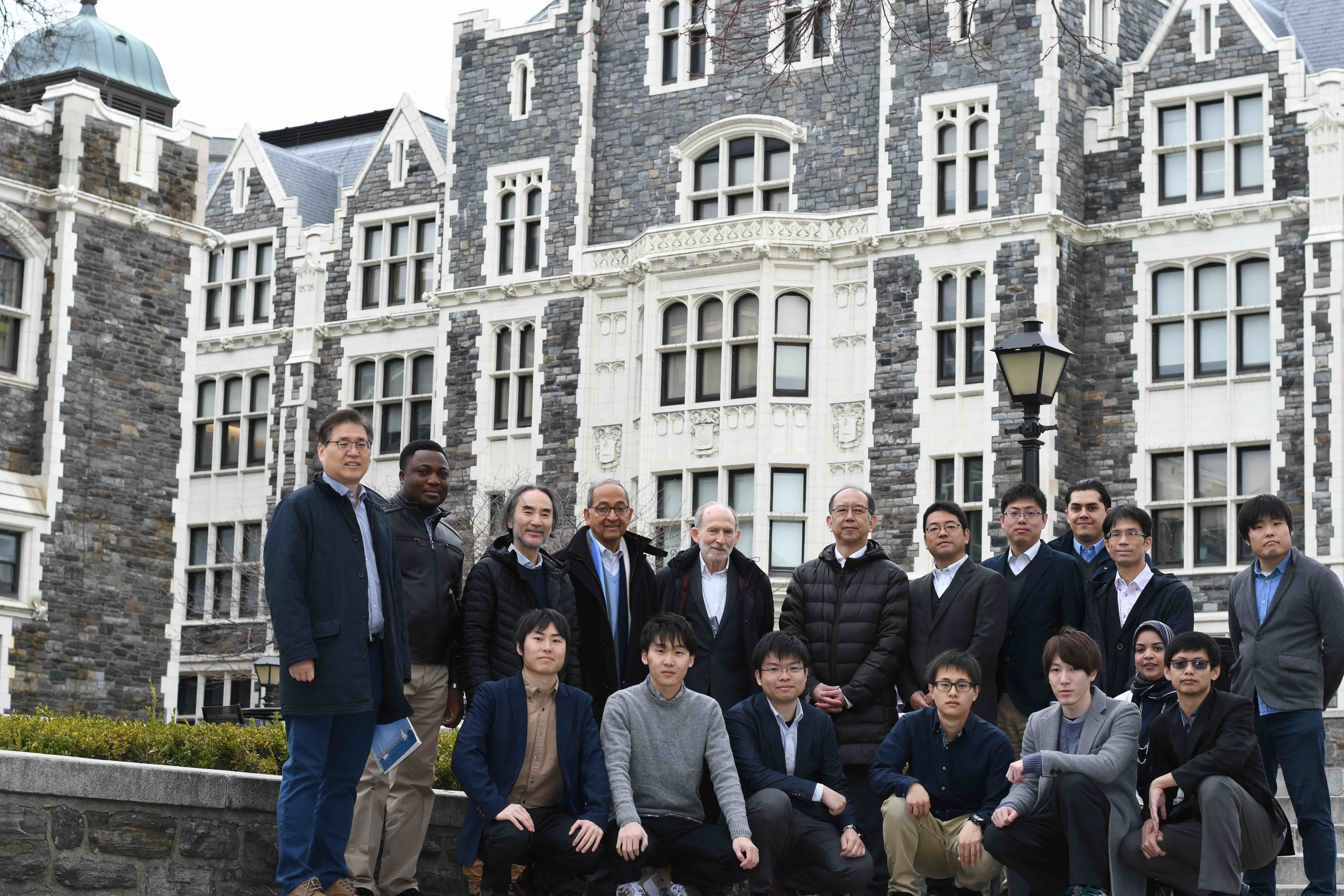 The Kyutech of Japan and CCNY of USA teams during their regular annual workshop meeting at CCNY under NSF Grant JUNO2