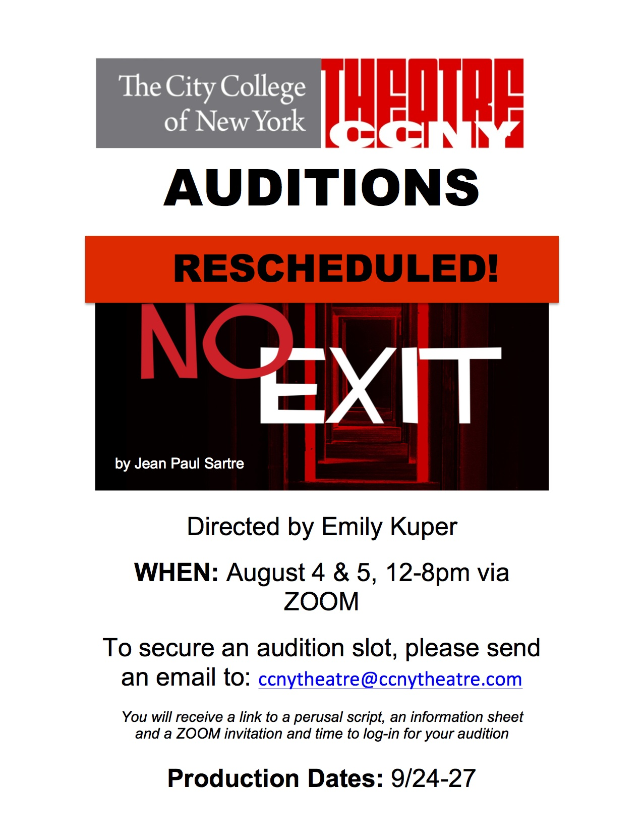 No Exit Auditions