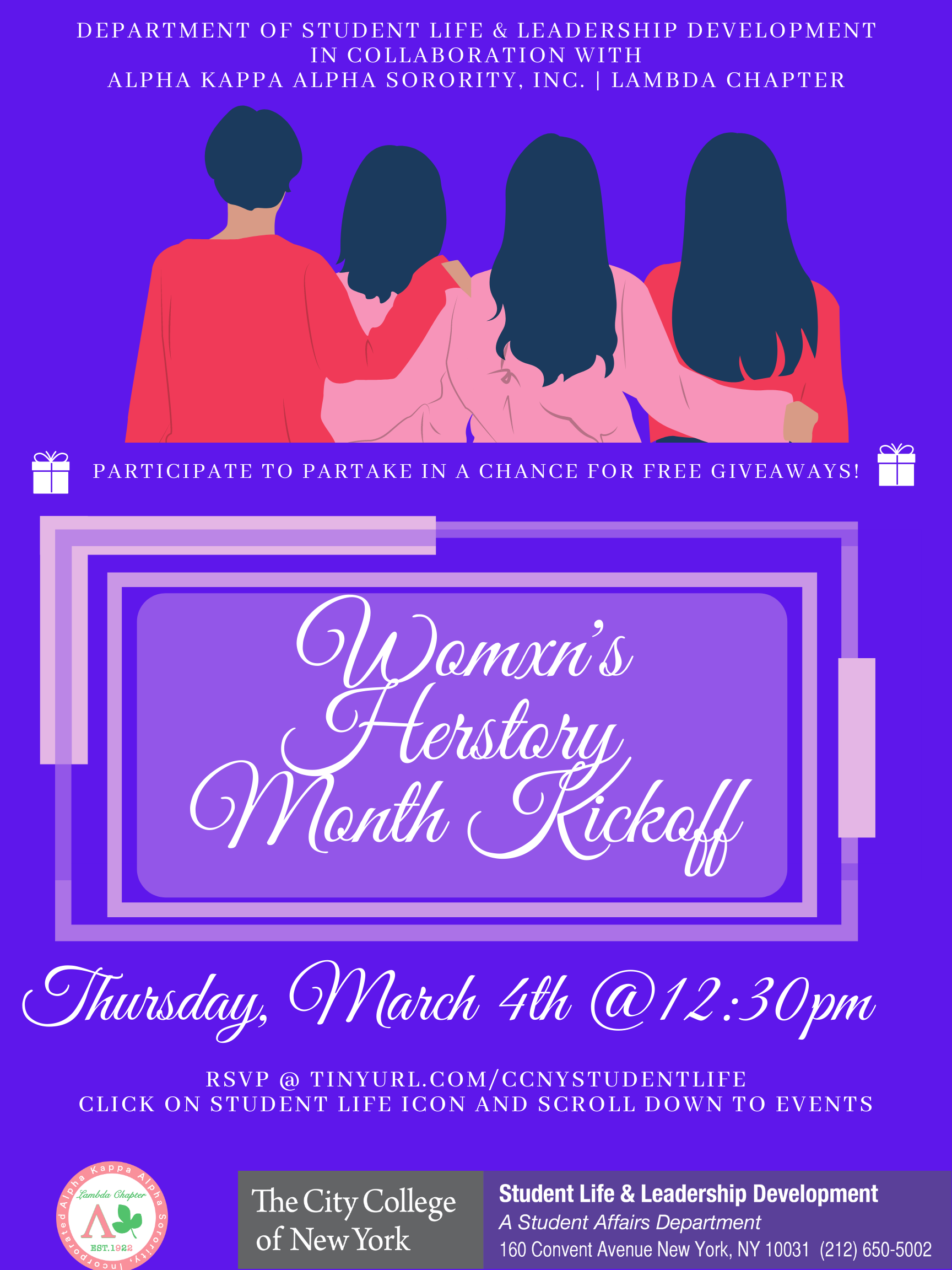 Womxn's Herstory Month Kickoff - Thursday, March 4th
