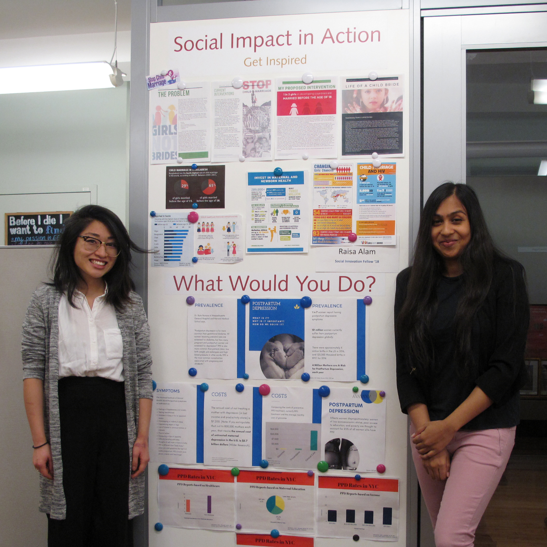 MPA students display their social innovation projects
